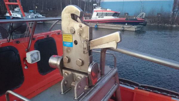Henriksen Hook on boat