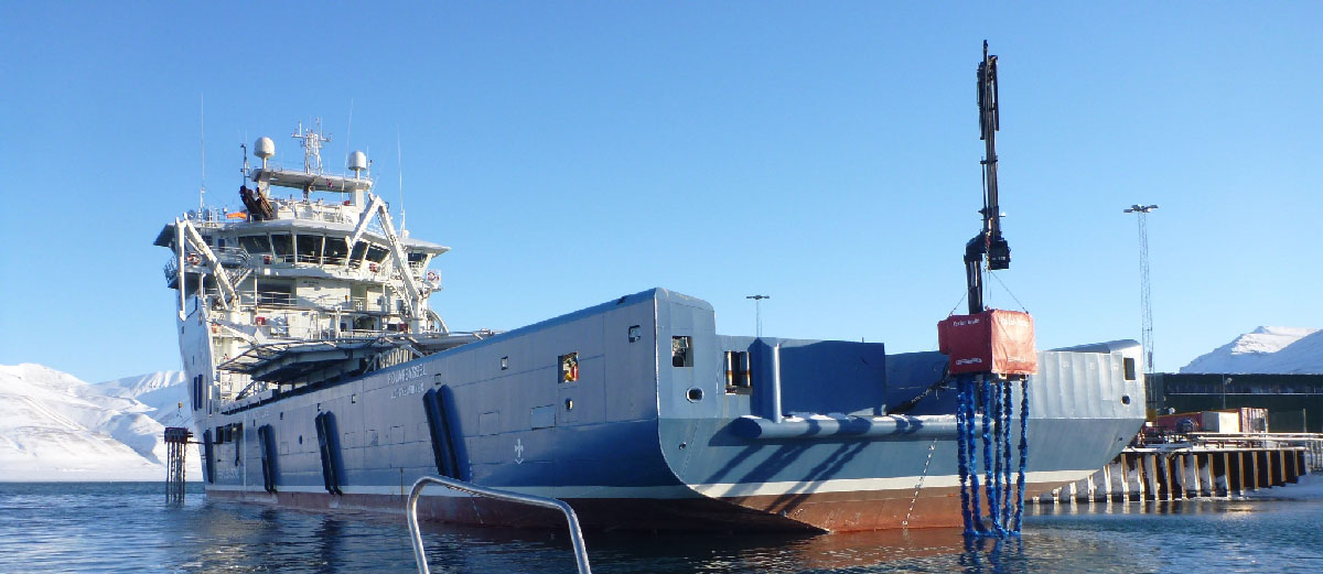 Arctic FoxTail from Henriksen on ship from behind